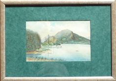 Encadrement - Aquarelle, Lac d'Annecy Painting, Art, Lake Annecy, Picture Frame, Watercolor Painting, Art Background, Painting Art, Kunst, Paintings