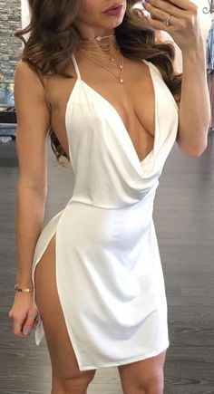 amazing white dress | a hot date-night dress that should be in your closet if you're into this kind of style
