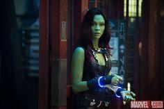 "zoe saldana gamora   Zoe Saldana as Gamora in ""Guardians of the Galaxy."" Photo Credit ..."