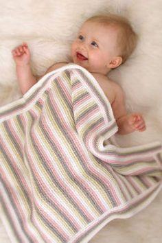 Stripey travel rug