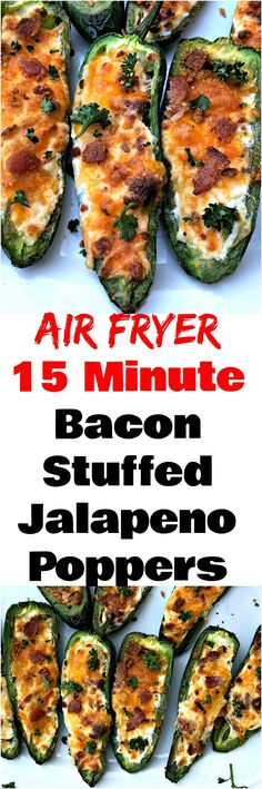 Easy Air Fryer Bacon and Cream Cheese Stuffed Jalapeno Poppers is a quick spicy recipe. These poppers are low-carb and keto diet friendly. This dish has savory and creamy melted cheddar cheese and is also crunchy. Makes the perfect appetizer or snack for