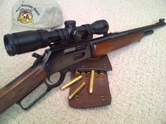 This is how I wanna make mine when I get back Airsoft Guns, Weapons Guns, Guns And Ammo, Marlin Lever Action, Lever Action Rifles, Action Pictures, Cool Guns, Awesome Guns, Hunting Equipment