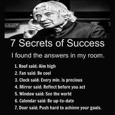 Secret of succes Apj Quotes, Life Quotes Pictures, People Quotes, Wisdom Quotes, Qoutes, Quotations, Humour Quotes, Life Images, Inspirational Quotes About Success