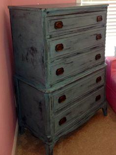 Dresser redo. Annie Sloan Provence.