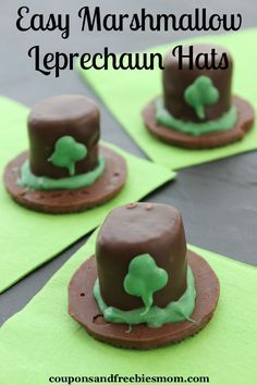 With St. Patrick's Day coming up soon the kids are always chomping at the bit to make fun crafts and treats to share with their friends. These Easy Marshmallow Leprechaun Hats are sure to be the hit of the party.