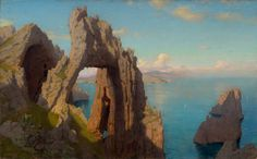 Natural Arch at Capri, by William Stanley Haseltine at the National Gallery of Art in Washington DC.