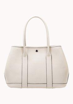 New Popular 37CM Tote Bag Calfskin Leather Cream
