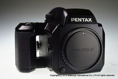 PENTAX 645N Body with 120 Film Back,eye cup,strap Excellent+ #PENTAX