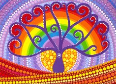 From Red Bubble : Rainbow Boab Tree of Life by Elspeth McLean  Boab Tree's are such an ancient tree, growing to tremendous sizes they are an amazing sight to behold.
