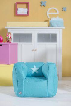 Beanbag sofa Faded star aqua by Jollein