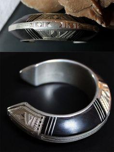 Africa   Vintage Tuareg Ebony and silver bracelet   Sold