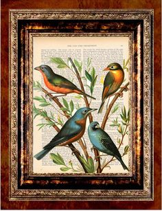 newdayprints Antique Book & Dictionary Page Art Prints