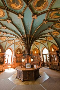 This would make a great TARDIS control room. Only a few minor adjustments.  -Marienburg Castle, Hannover, Germany 19th century Neo-Gothic