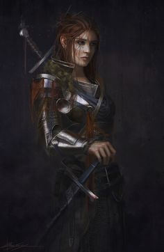 Female knight Warrior
