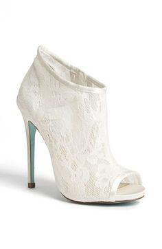 Lace peet toe boot Betsey Johnson 'RSVP' Bootie available at #Nordstrom I love these heels but im too tall for them!