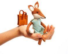 Kit de fox Charlotte-coser a mano sentía Animal Craft Kit - Kit de costura de Fox -, ornamento de la fox, kit de costura para principiantes, costura DIY, fantástico fox