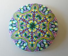 Carol Simmons domed and veneered pendant side 1 by It's all about color, via Flickr