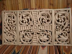 Detail of decoration. Canadian oak.