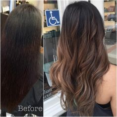 """""""Mi piace"""": 121, commenti: 9 - Long The Hong (@long.the.hong) su Instagram: """"Rich Latte ☕️☕️☕️ Color correction: Box color covering an old ombre removed. #brunette #Asian…"""""""