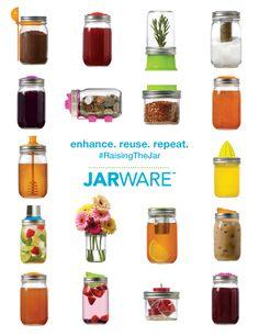 Calling all Mason jar lovers! Jarware is a fresh new brand, designed in-house, for re-purposing your iconic Mason or Ball jars. Kilner Jars, Mason Jar Lids, Canning Jars, Mason Jar Crafts, Cool Kitchen Gadgets, Cool Kitchens, Kitchen Stuff, Painted Jars, Ball Jars
