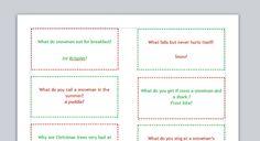 24 Christmas jokes for kids free printable. Perfect for advent calendar!