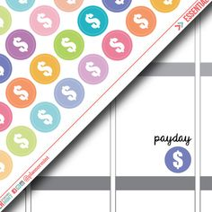 Dollar Sign Planner Stickers - Dot Icon - Erin Condren Life Planner - Happy Planner - Savings - Payday - Finance - Money - Matte or Glossy