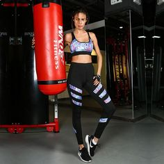 Cheap yoga set, Buy Quality sport set directly from China gym workout sets Suppliers: Women's Tracksuit Running Set Gym Sports Set Workout Gym Bra Pants Sportswear Yoga Set Sport Suit Femme Sports Clothing Tops For Leggings, Sports Leggings, Women's Leggings, Sports Vest, Activewear Sets, Gym Bra, Yoga Bra, Womens Workout Outfits, Sport Wear