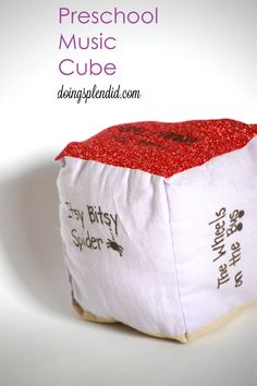 DIY preschool music cube