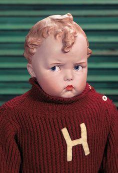 German Bisque Grumpy-Face Character