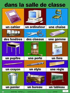 Francés para todos en Utebo: La salle de classe et les fournitures scolaires