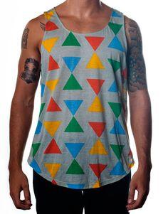 Nemis Clothing Triangle Tank Grey www.nemisclothing.com