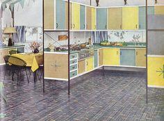 Retro Kitchens On Pinterest Steel Kitchen Cabinets Orange Kitchen