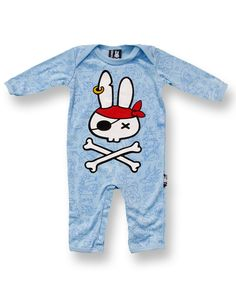 PIRATE BLUE - Pirat bunnies are the best <3 love this baby bodysuit.