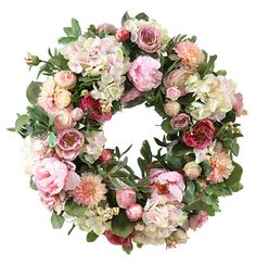 Garden Flowers Wreath