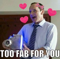 Normally, I wouldn't pin these sorts of things, but I just needed a fabulous Coulson right now.