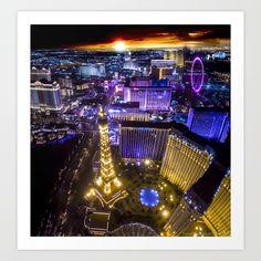 Las Vegas Strip ft. Paris Hotel Art Print
