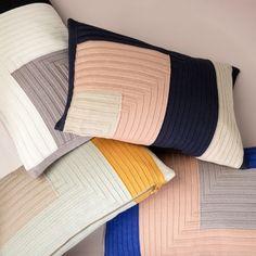 Ferm Living's Angle Knit cushions