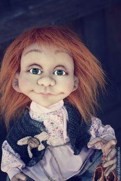 Купить Михаська - серый, кукла ручной работы, Домовенок Кузя, на удачу, подарок на новоселье, деревня
