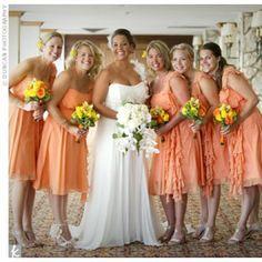 04082017 Orange Bridesmaid Dresses