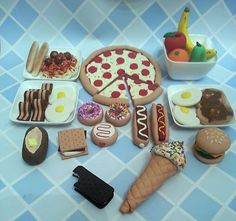 "American Girl Doll Food or Any 18"" Doll Food Entire Collection Amazing WOW 