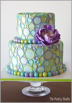 "Different! Love it! Would look good in ""boy"" colors as well or neutrals for a birthday cake"