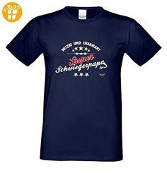 Geburtstagsgeschenk Schwieger-Papa-Vater :-: Herren T-Shirt als Geschenkidee :-: Super Schwiegerpapa :-: Übergrößen 3XL 4XL 5XL :-: Geschenk zum Geburtstag Farbe: navy-blau Gr: 4XL (*Partner-Link)