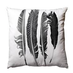 Pute med trykk av fjær, 50 x 50 cm, med innerpute. Arrow Feather, Mad About The House, Interior Design Process, Feather Pillows, Couch, Feather Print, Deco Design, Discount Designer, Decoration