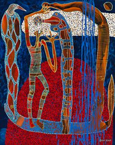 Migration Series #1 - Arone Meeks - Synthetic Polymer Paint on Canvas - AM104/01 - Aboriginal and Torres Strait Islander Art Prints