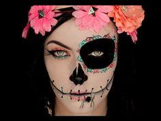 maquillaje de catrina media cara - Buscar con Google