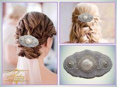 Perle nozze capelli bianchi Accessori Clip di AdelineHandiWork