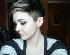 Pixie hairstyle with shaved sides is one of the most popular hairstyle for women over forty. It gives the women the liberty to either style their spike nor keep it normal. In this kind of haircut the hair on both sides of the head are close shaved and hairs on the upper part of head are left a much longer.