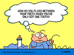 Baby Cartoons: first tooth, baby's first tooth, flossing, pediatric dentistry, baby teeth.