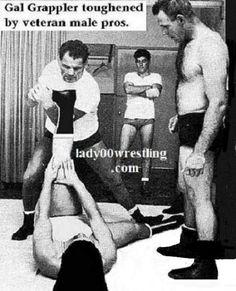 Retro Vintage 50s Women Schoolgirls Wrestling FANTASY and REALITY