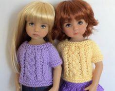 "18. Little Sweater - PDF Knitting Pattern for Dianna Effner 13"" Little Darling Dolls"